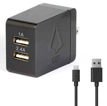 LBT-Dual-Port-3-4-Amp-Wall-Charger-2-4-Amp-1-Amp-Ports-With-6ft-Micro-USB-Cable