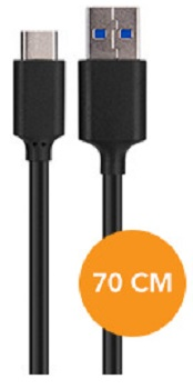Xqisit-70cm-USB-Type-C-to-USB-3-0-Data-Cable-Black