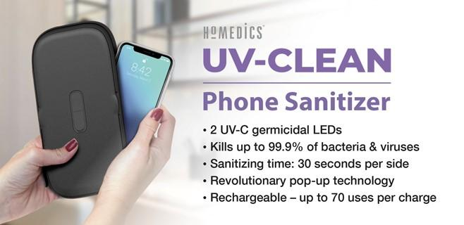 HoMedics Black UV-Clean Phone Sanitizer